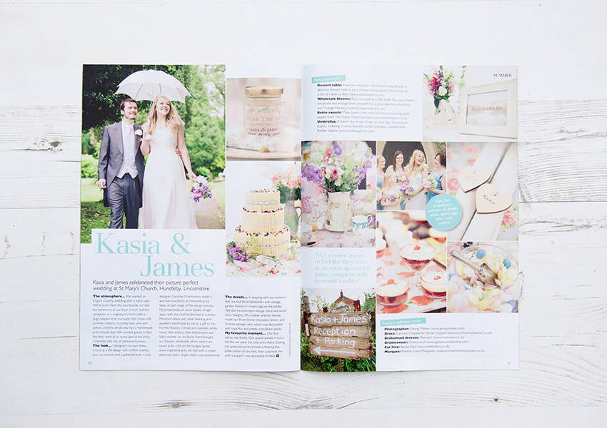 Wedding Magazine Feature: Kasia & James