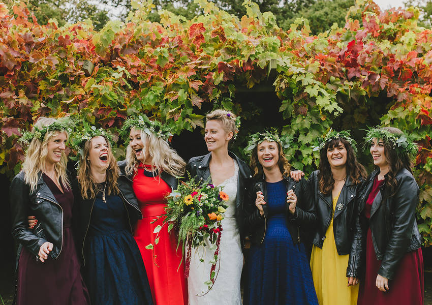 An Autumn Garden Wedding near Stamford